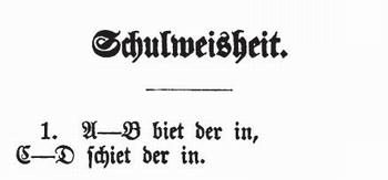 Schulweisheit Plattdeutsche Gedichte
